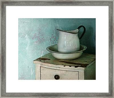 Washstand Still Life Framed Print by Nikolyn McDonald
