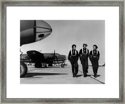 Wasps On Flight Line At Laredo Aaf Framed Print