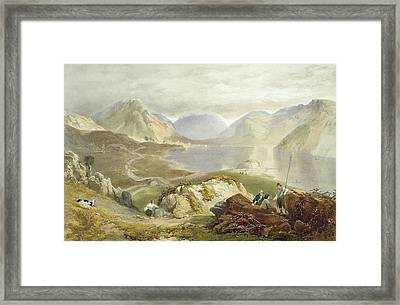 Wast Water, From The English Lake Framed Print by James Baker Pyne