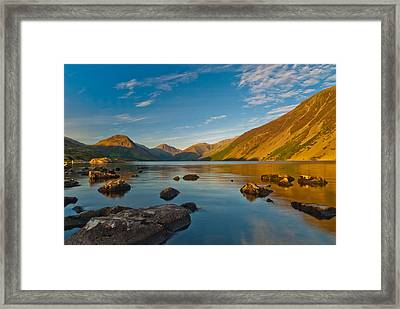 Wast Water Lake District Framed Print by David Ross