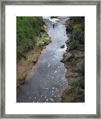 Wastewater Pollution Framed Print by Robert Brook