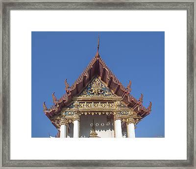 Wat Amarintaram Ubosot Gable Dthb1509 Framed Print