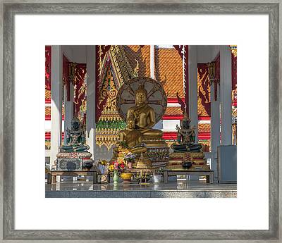Wat Bukkhalo Central Roof-top Pavilion Buddha Images Dthb1812 Framed Print by Gerry Gantt