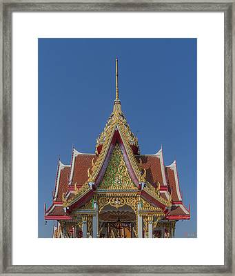 Wat Bukkhalo Central Roof-top Pavilion Gable Dthb1810 Framed Print by Gerry Gantt