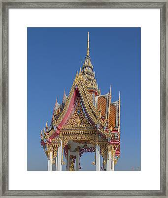 Wat Bukkhalo Front Roof-top Pavilion Gable Dthb1822 Framed Print by Gerry Gantt
