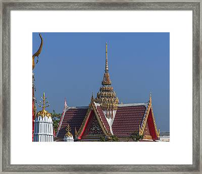 Wat Bukkhalo Spire And Gables Dthb1823 Framed Print by Gerry Gantt