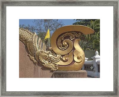 Wat Chedi Liem Phra Ubosot Makara And Stylized Naga Dthcm0838 Framed Print