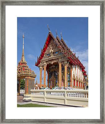 Wat Choeng Thalay Ordination Hall Dthp138 Framed Print by Gerry Gantt