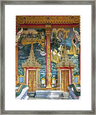Framed Print featuring the photograph Wat Choeng Thale Ordination Hall Facade Dthp143 by Gerry Gantt