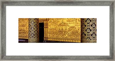 Wat Mai Luang Prabang Laos Framed Print by Panoramic Images