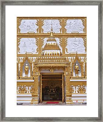 Wat Nong Bua Door Of Main Stupa Dthu448 Framed Print by Gerry Gantt