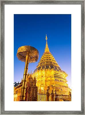 Wat Phra Doi Suthep - Chiang Mai - Thailand Framed Print