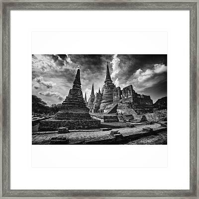 Wat Phra Si Sanphet In Ayutthaya Framed Print