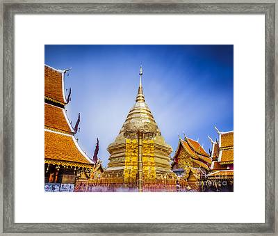 Wat Phra That Doi Suthep  Framed Print by Anek Suwannaphoom