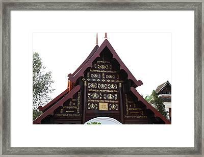 Wat Phra That Lampang Luang - Lampang Thailand - 011314 Framed Print