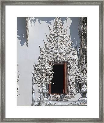 Wat Rong Khun Ubosot Window Dthcr0042 Framed Print