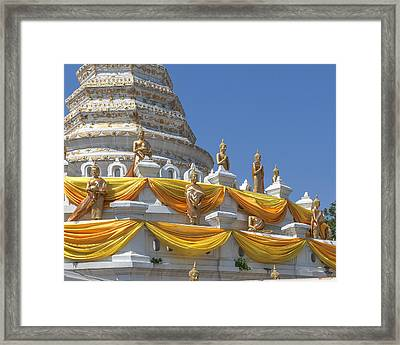 Wat Songtham Phra Chedi Buddha Images Dthb1916 Framed Print