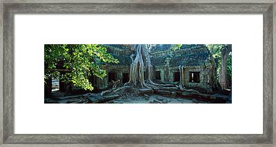 Wat Temple Complex Of Ta-prohm Cambodia Framed Print by Panoramic Images