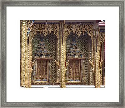 Wat Thung Setthi Ubosot Window Dthb1550 Framed Print
