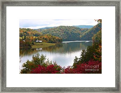 Watauga Lake Autumn Framed Print
