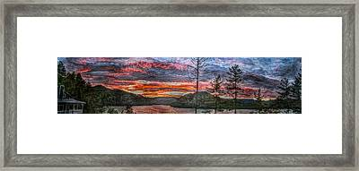 Watauga Lake Sunset Framed Print