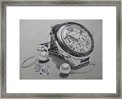 Watch And Earrings Framed Print