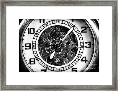 Watch Hands Framed Print by John Rizzuto