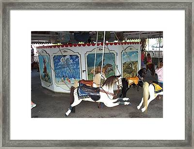 Framed Print featuring the photograph Watch Hill Merry Go Round by Barbara McDevitt
