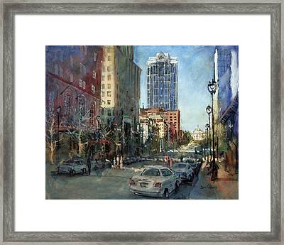 Watch Over Fayetteville Street Framed Print