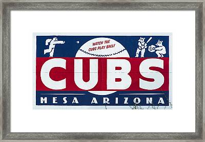 Watch The Cubs Framed Print