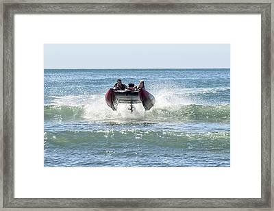 Watch The Revs Framed Print by Keith  Growden