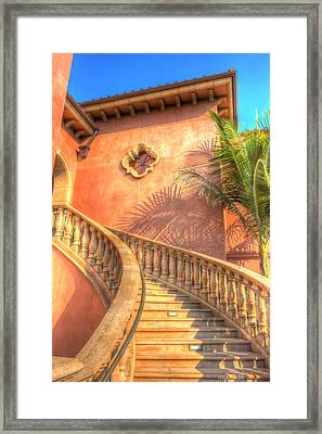 Watch Your Step And Welcome Framed Print