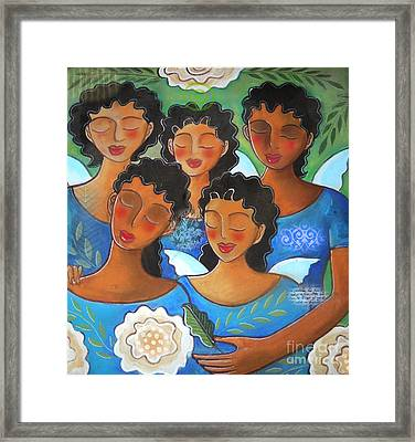 Watched By Angels Framed Print by Elaine Jackson
