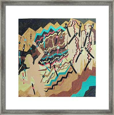 Framed Print featuring the painting Watched by Erika Chamberlin