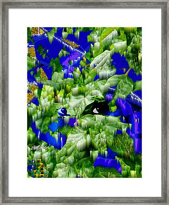 Watcher In The Woods Framed Print by Seth Weaver