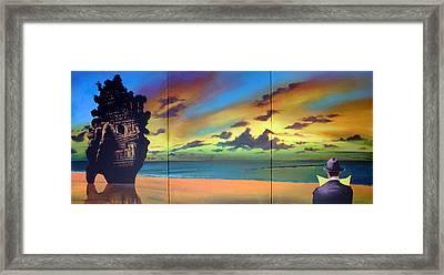 Watcher On The Beach Framed Print by Geoff Greene