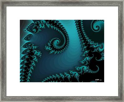 Framed Print featuring the digital art Watchers On The Chalcedony Slide by Elizabeth McTaggart