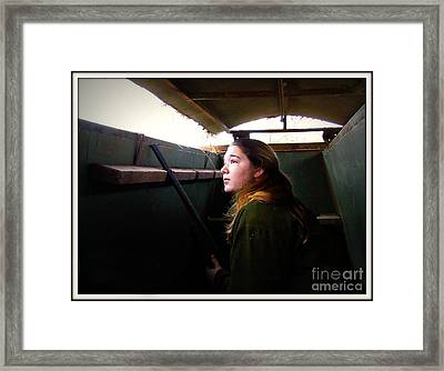 The Huntress In Watchful Anticipation Framed Print