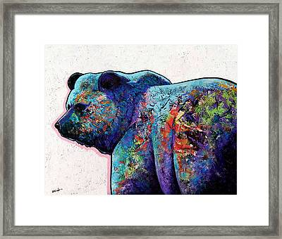 Watchful Eyes - Grizzly Bear Framed Print by Joe  Triano