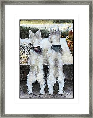 Watching And Waiting 2 Framed Print by Geraldine Alexander