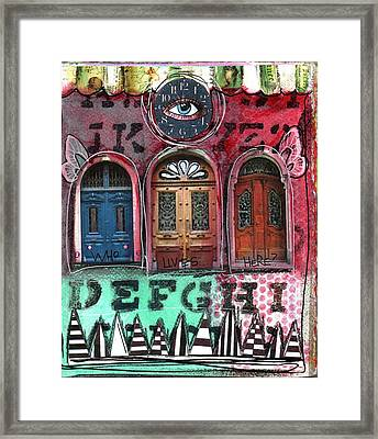Watching Doors Framed Print by Carrie Todd