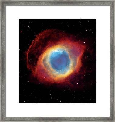 Watching - Helix Nebula Framed Print
