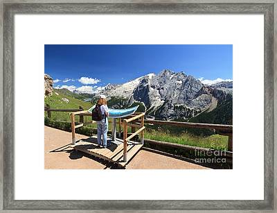 watching Marmolada mount Framed Print