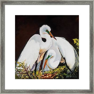 Watching Over Her Framed Print by Jane Woodward