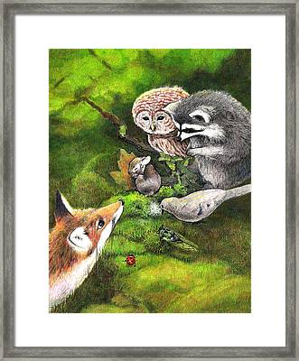 Watching Over Sleepy Bunny Framed Print by Steve Asbell