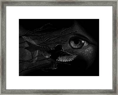 Watching Over Sparrows Framed Print by Sandra LaFaut