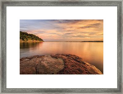 Watching Sunset Framed Print