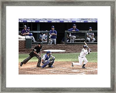 Watching The Ball Framed Print by Bob Hislop