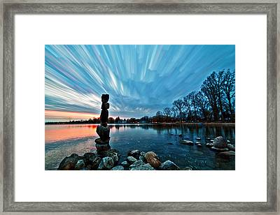 Watching The Clouds Pass Framed Print
