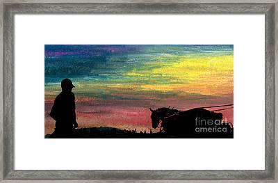 Watching The Horses Framed Print by R Kyllo
